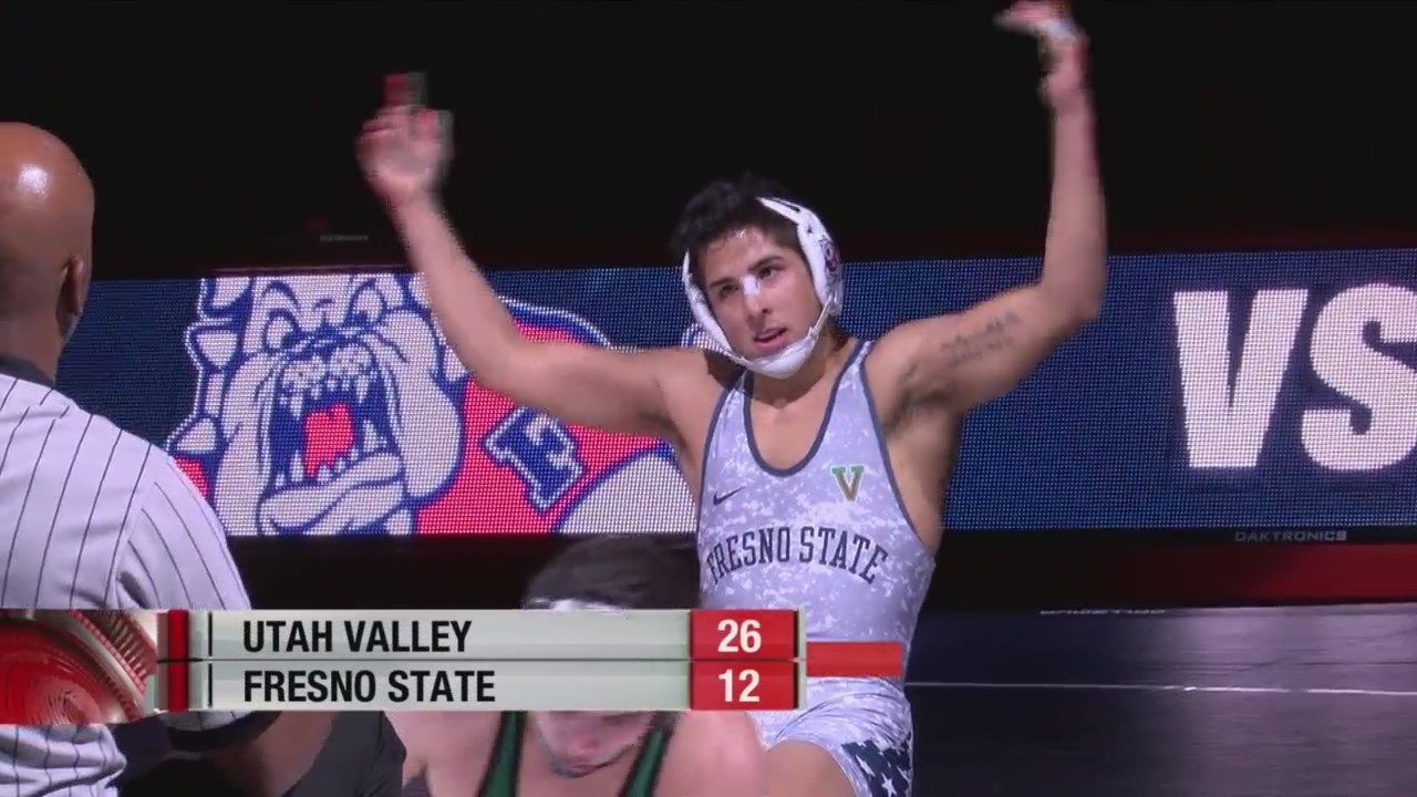 Bulldog wrestling team loses to Utah Valley