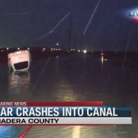 CAR INTO A CANAL