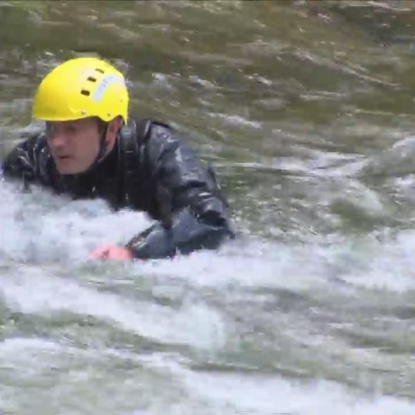 Yosemite search and rescue crews conduct swift water training
