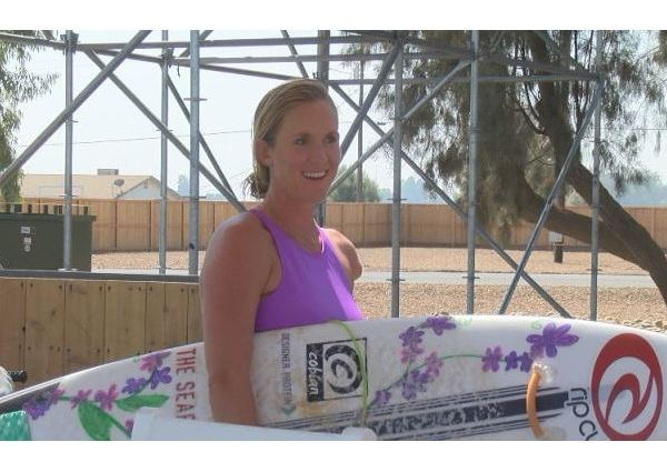 Bethany Hamilton in Lemoore at the Surf Ranch