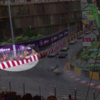 Video captures airborne crash during race