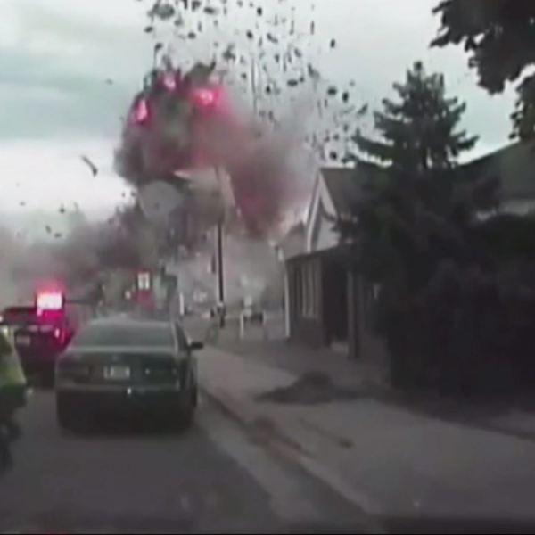 Dashcam footage shows deadly explosion that leveled downtown Wisconsin town