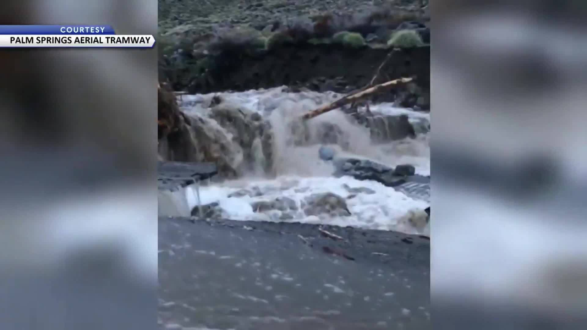 New Video: Flooding Causes Heavy Damage At Palm Springs Aerial Tramway