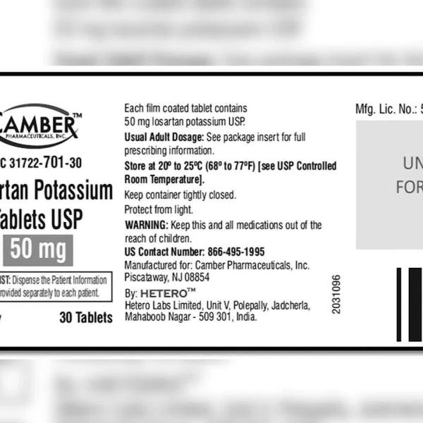 Trace amounts of carcinogen prompt blood pressure med recall