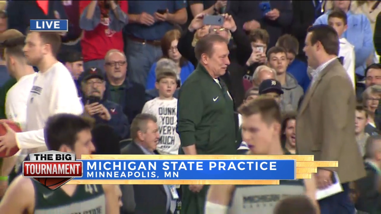 Jack Doles at Michigan State practice