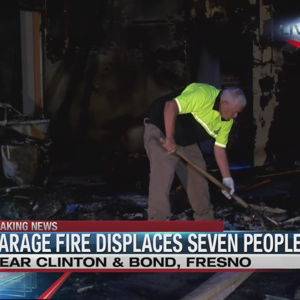 Garage fire displaces seven people