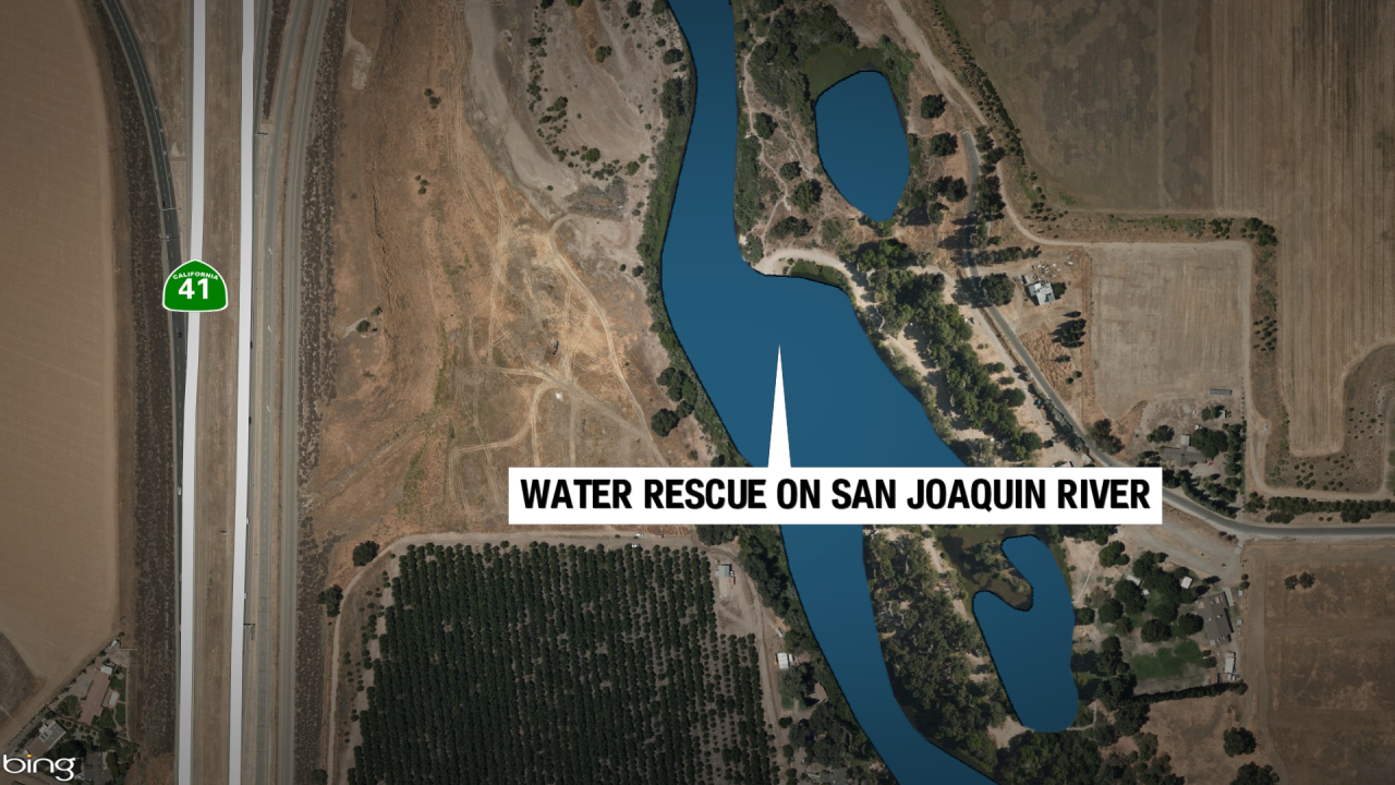 Swift water rescue on San Joaquin River for capsized boat victims