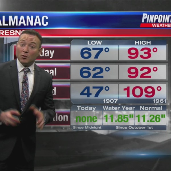 Meteorologist Justin Sacher delivering Your Pinpoint Weather Forecast