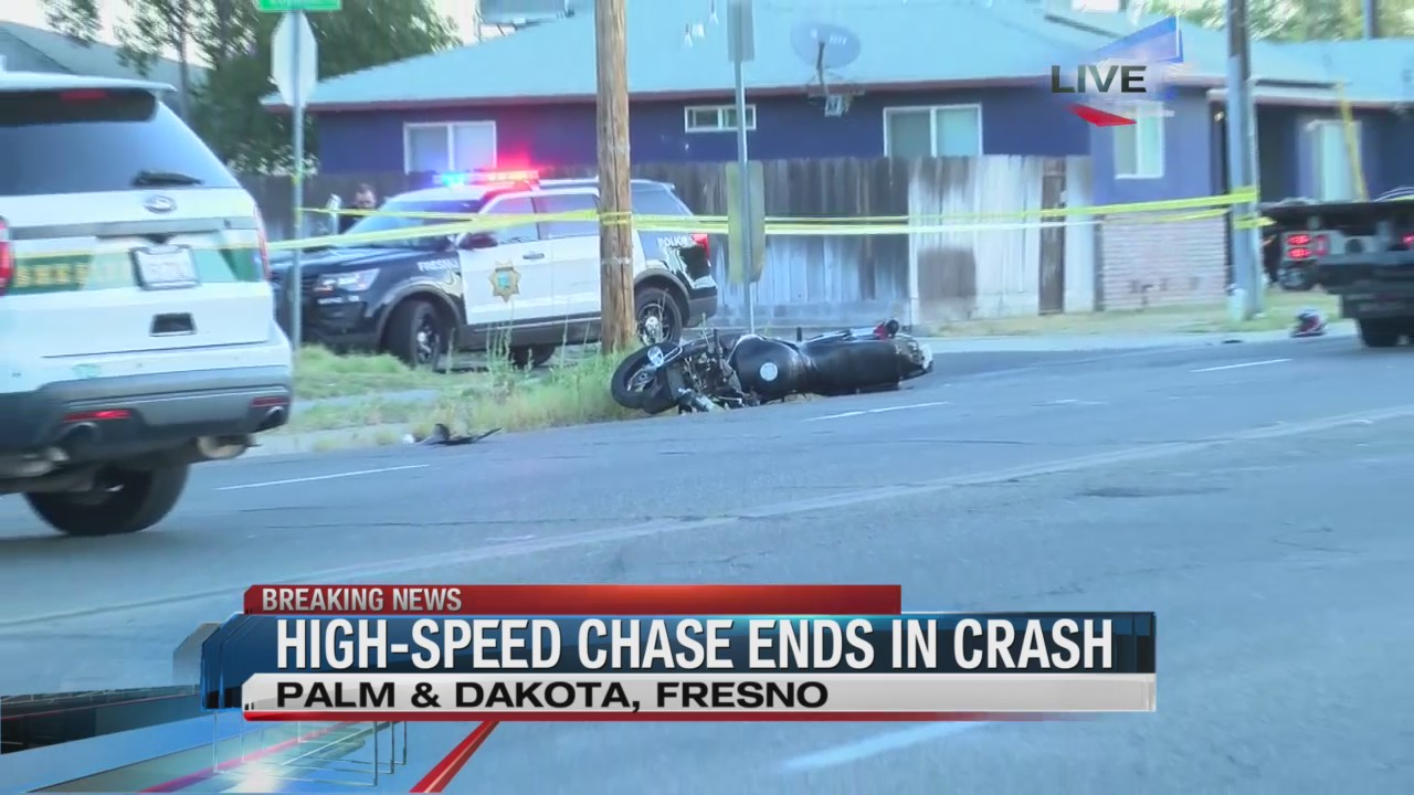Chase ends in deadly crash in Central Fresno