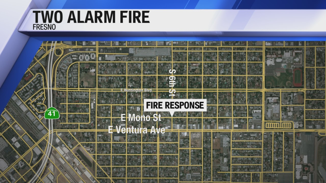 Two Alarm Fire With Heavy Fire Reported Near Downtown