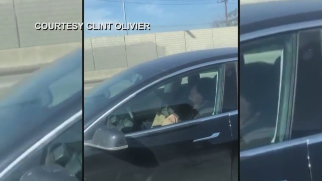 Tesla driver caught 'sleeping' while on busy freeway by former Fresno councilmember