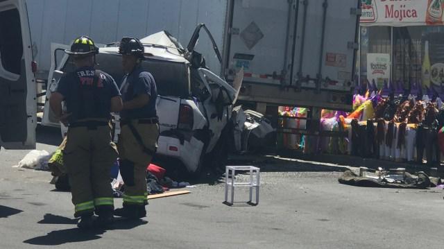 Fresno County coroner IDs woman killed in SUV vs big rig crash