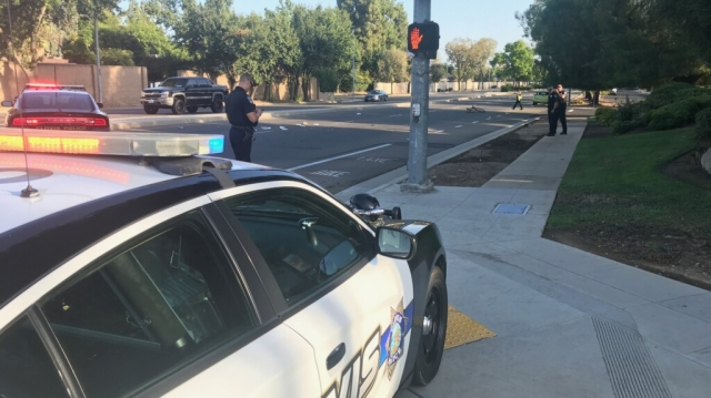 Cyclist struck by a vehicle in Clovis