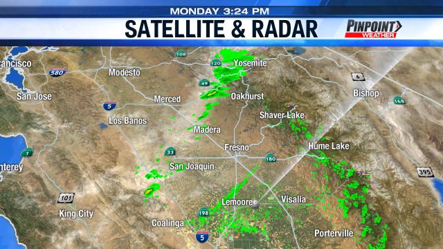 Strong winds, light rain cross Central California