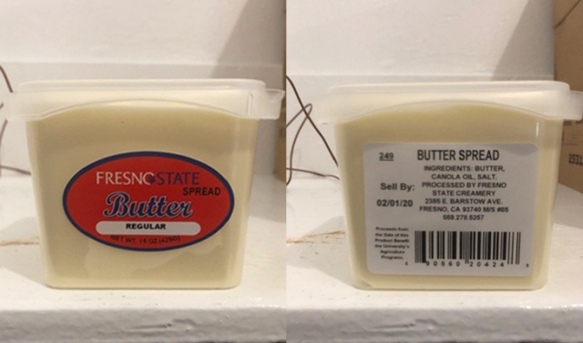 Fresno State Creamery recalls 'butter spread' due to a potential contamination