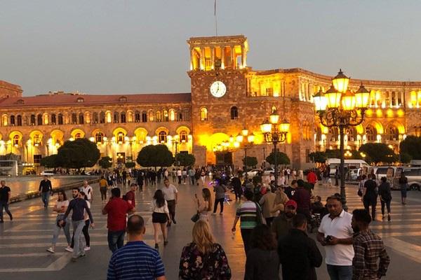 Yerevan by night.