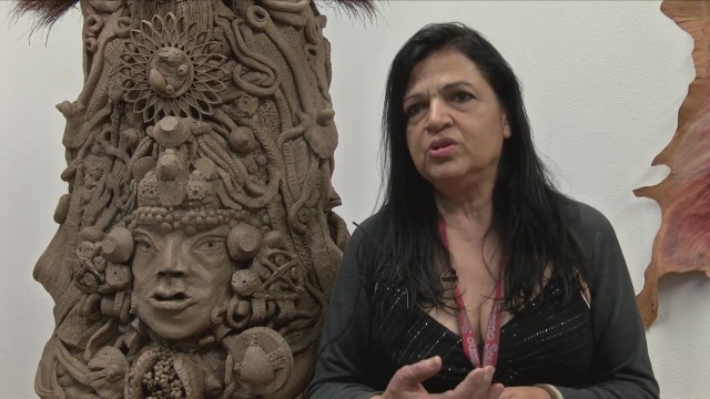 Fresno State art grad student showcases Mayan-inspired art that 'transcends time and place'