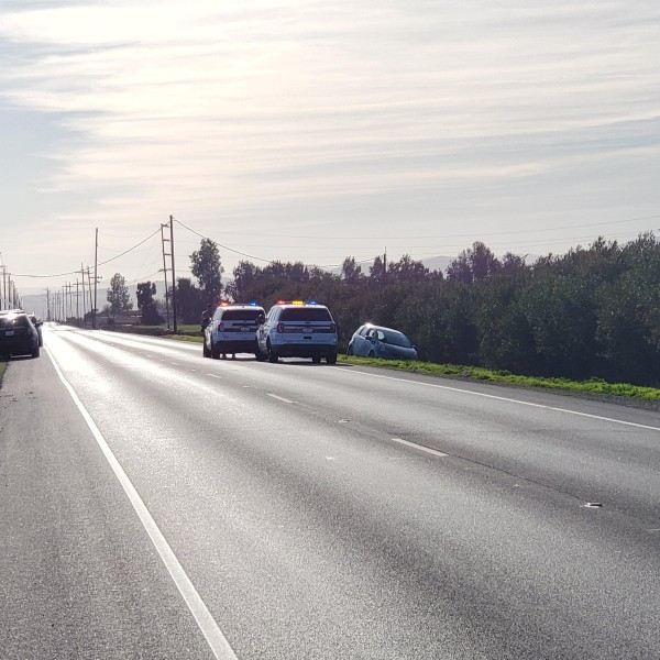 The scene at Highway 145 near Five Points (image courtesy of Fresno County Sheriff's Office)
