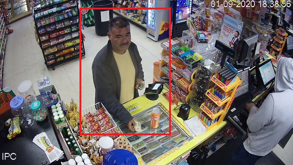 "Security footage shows a ""person of interest"" involved in the hit and run death of the 61-year-old in Tulare (image courtesy of Tulare Police)."