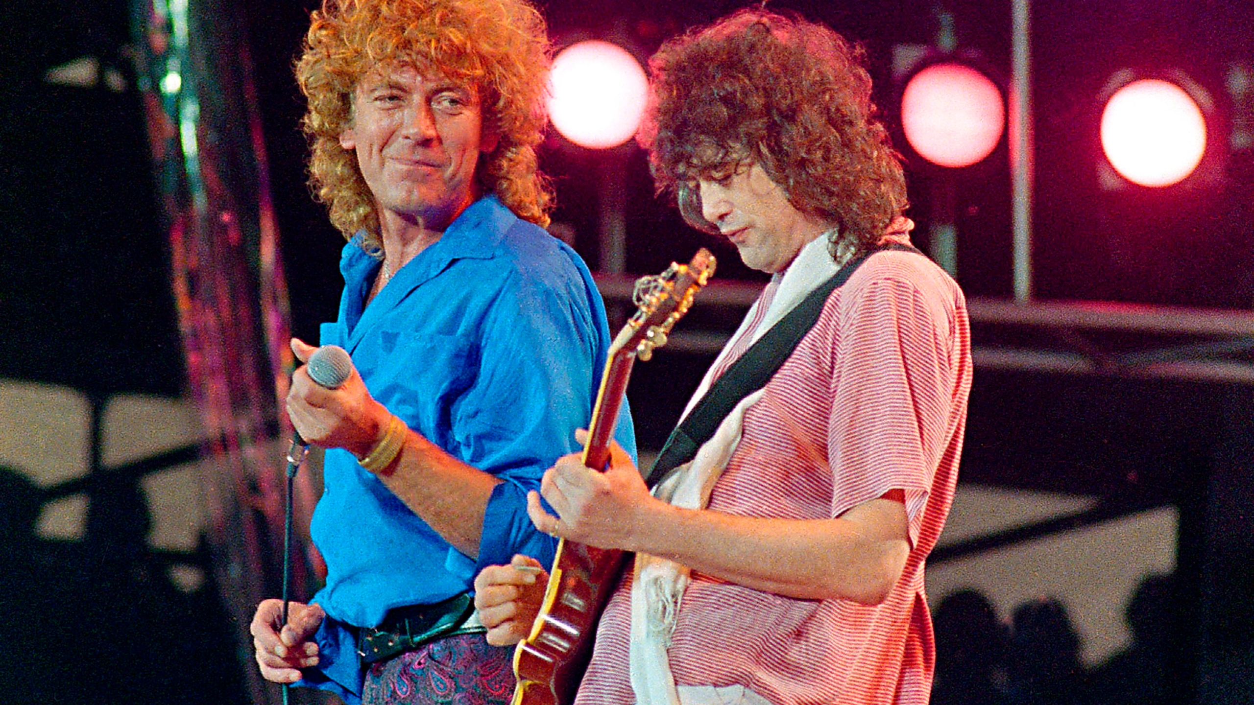 Robert Plant Jimmy Page Live Aid