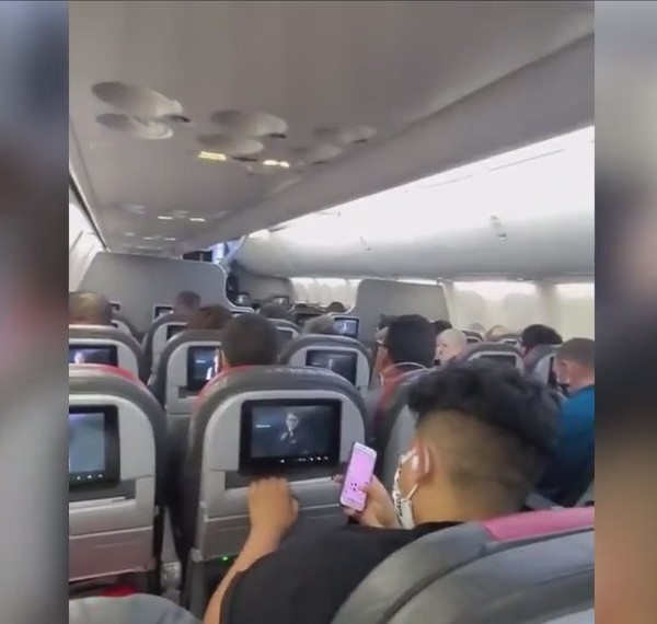 'I've never felt so unsafe' woman shares video of packed flight from Fresno to Dallas