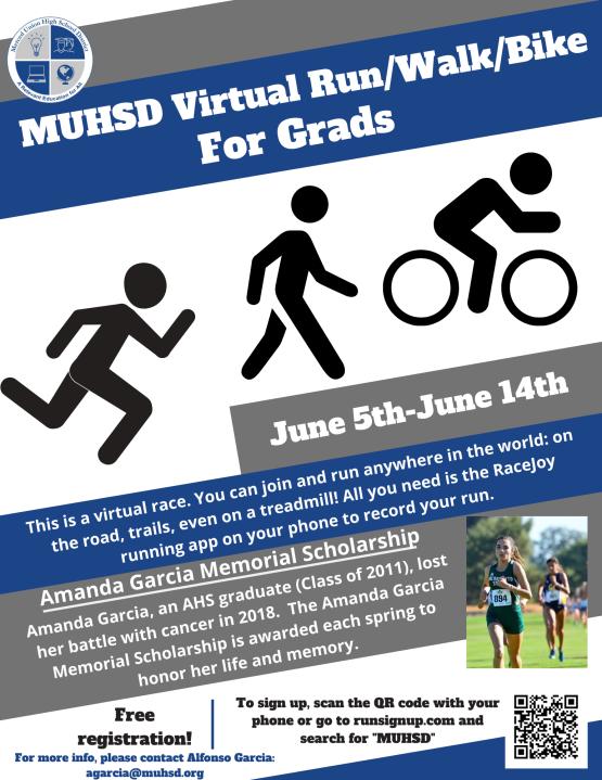 MUHSD Virtual Run, Walk, Ride for Grads