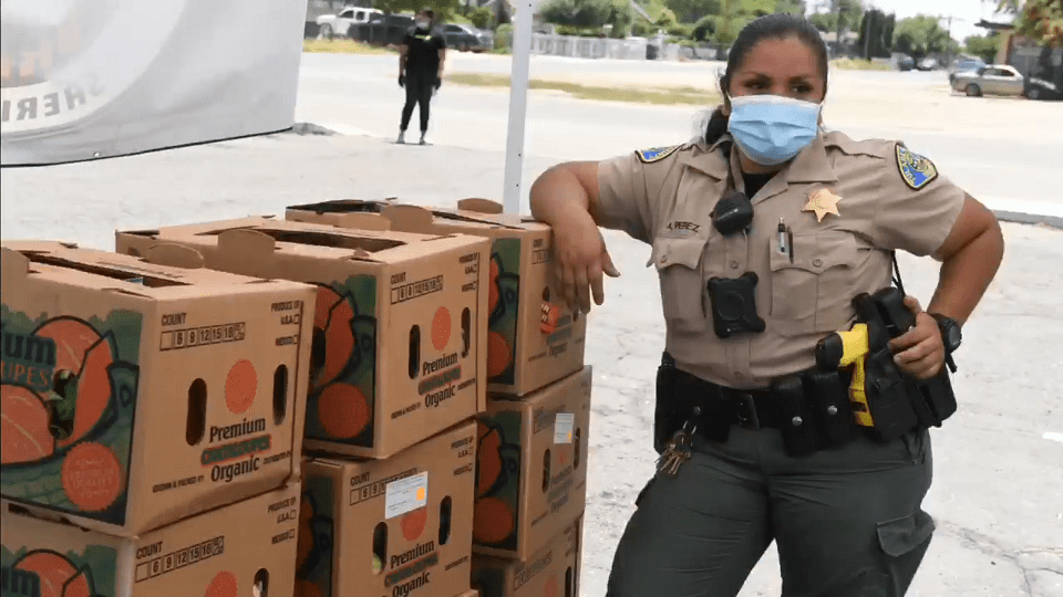 300 food boxes handed out in Pixley; Tulare County Sheriff's Office plans a second event