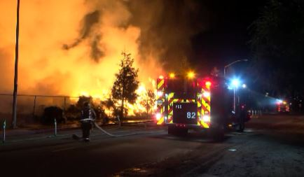 Fire at Maxco Supply in Reedley