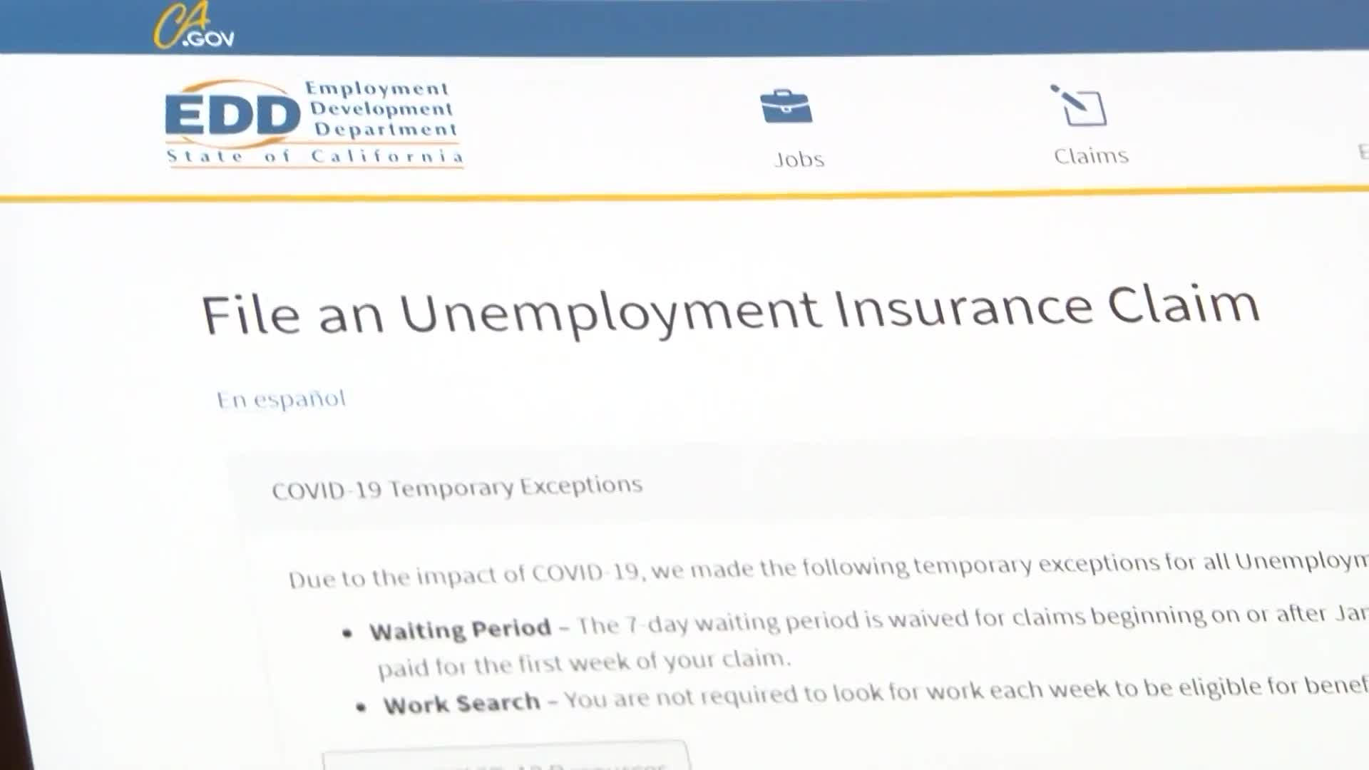 Calls For Action As Edd Continues To Struggle To Meet Unemployment