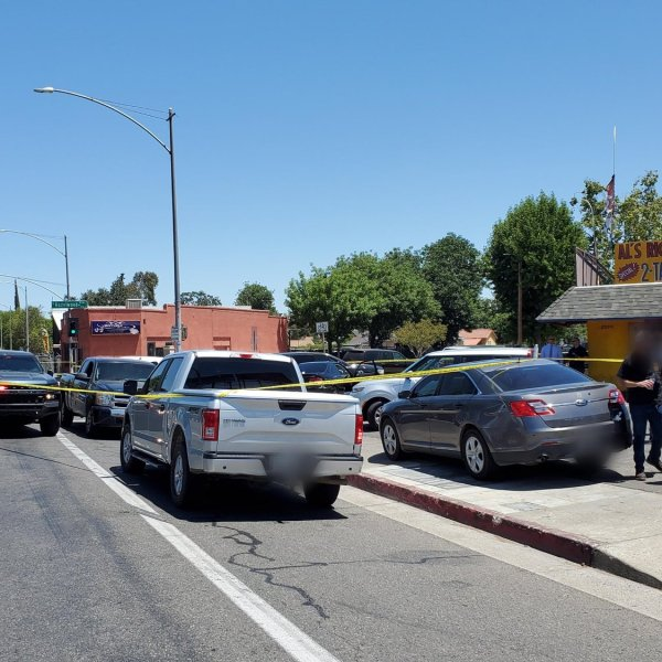 Suspect dies after he rams car into police vehicles, sparks officer-involved shooting, police say
