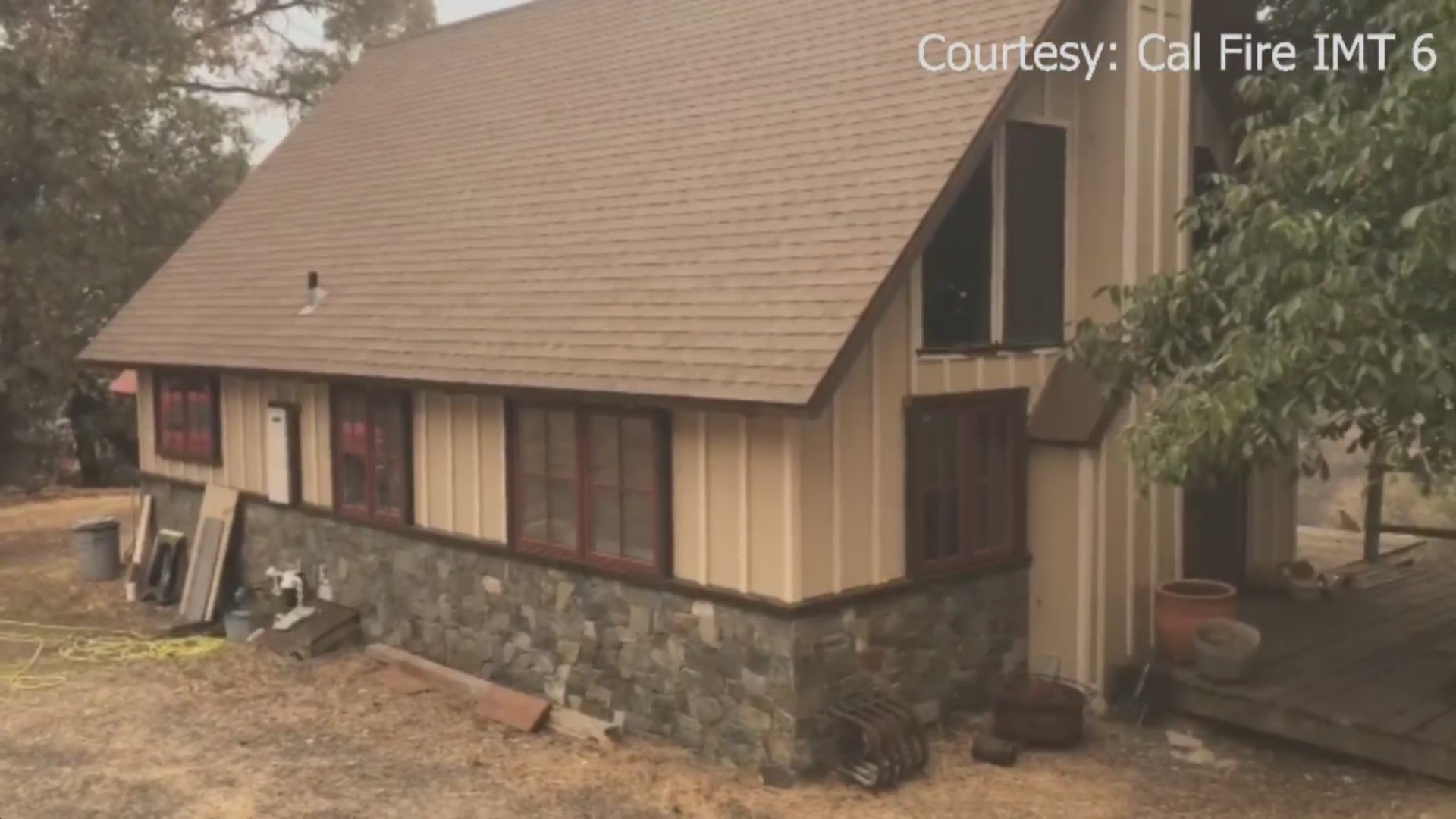 Defensible space credited with keeping this home safe from the SQF Complex fire