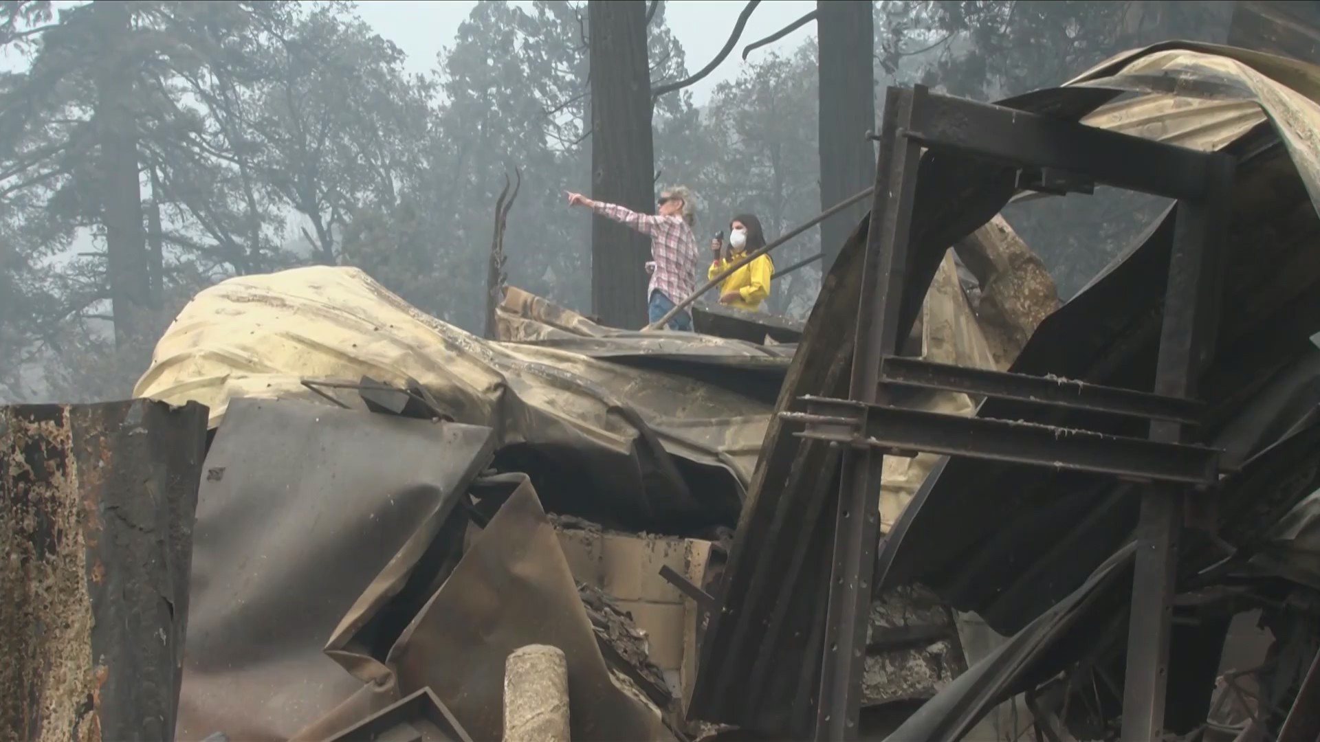 Valley assemblymember and Big Creek homeowner tour wildfire devastation