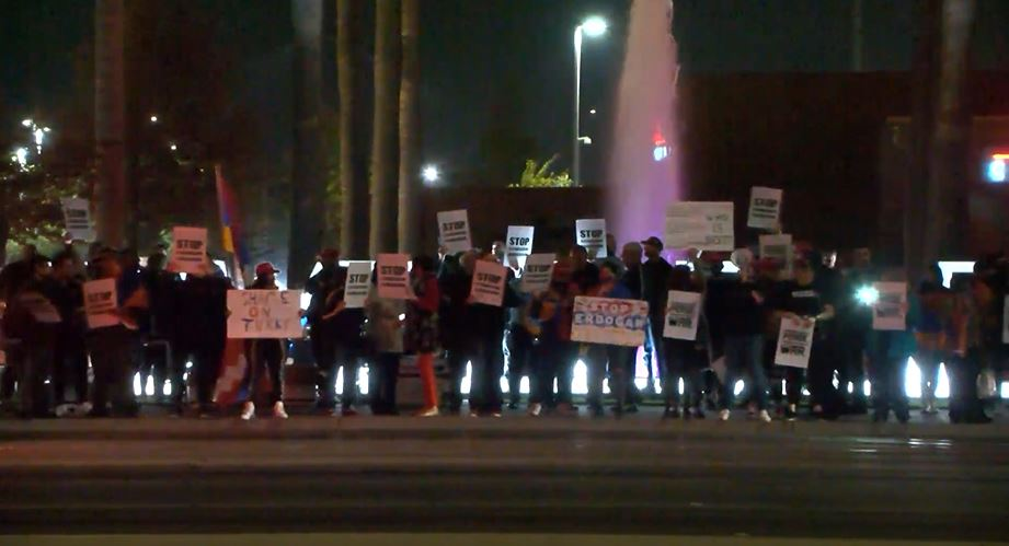 Demonstrators gathered for a second time in north Fresno, calling attention to violence between Armenia and Azerbaijan