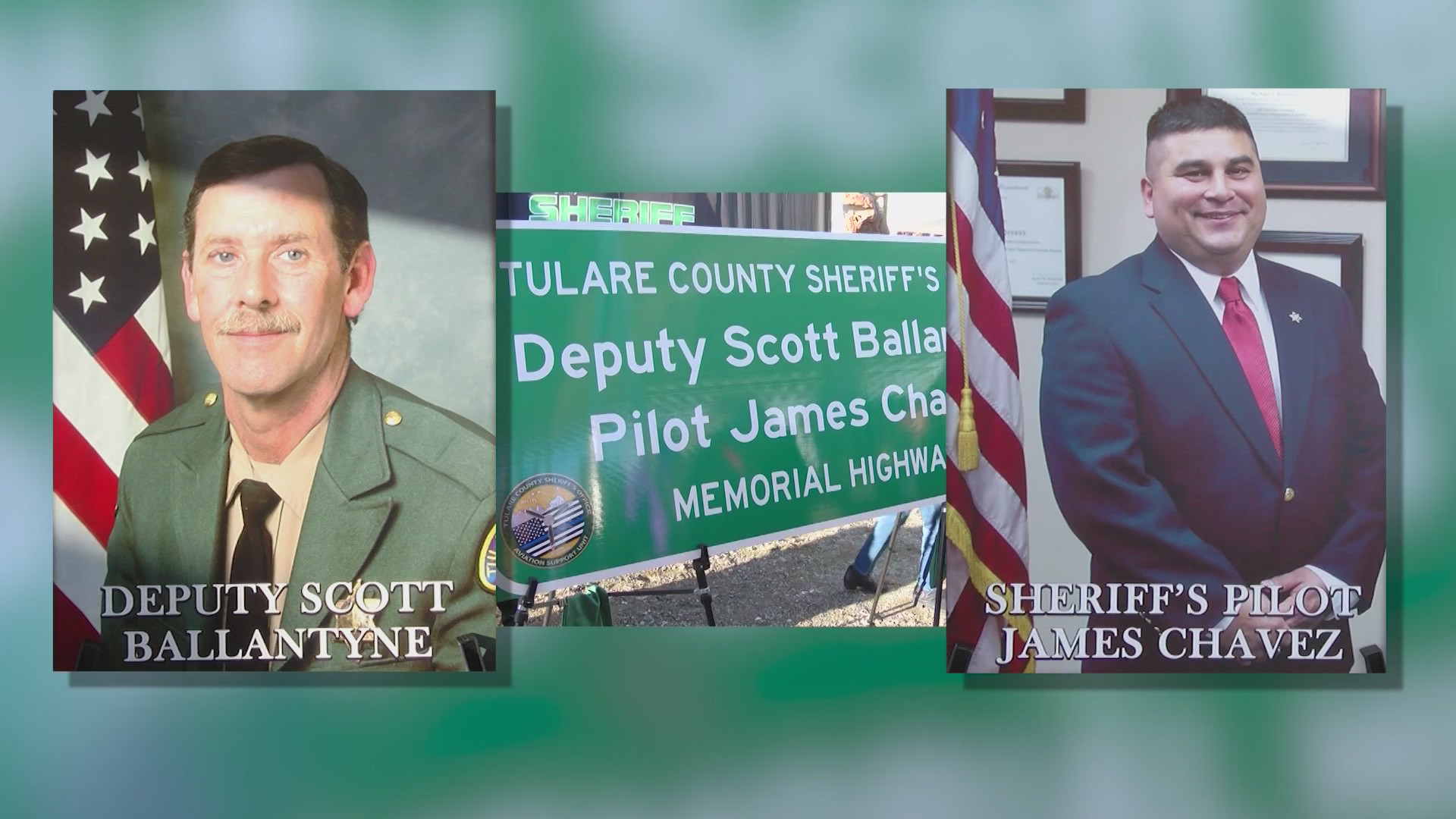 Sign honoring two killed in the line of duty is defaced in Tulare County