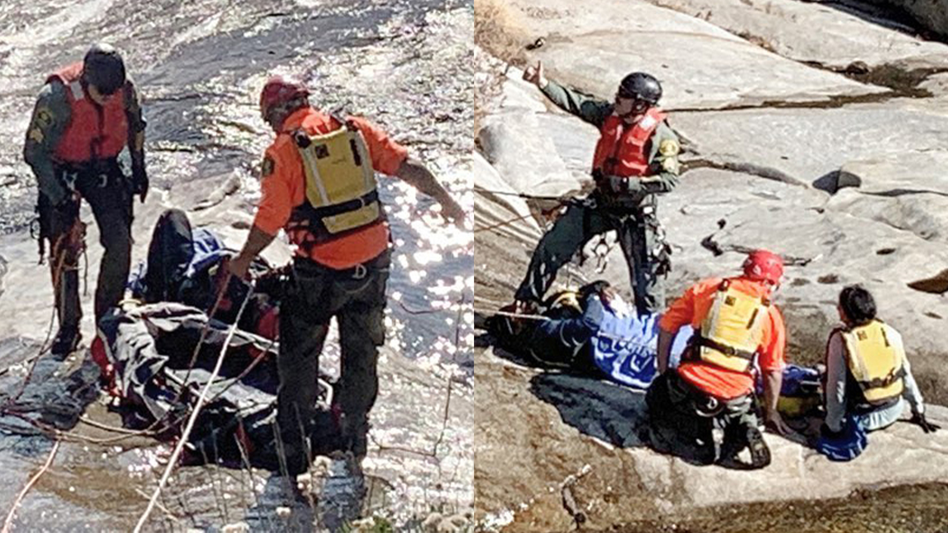 Husband and wife rescued from Willow Creek after she slips in, he jumps in after her