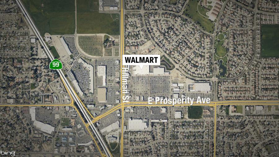 1-14 TULARE WALMART SHOOTING STILL MAP