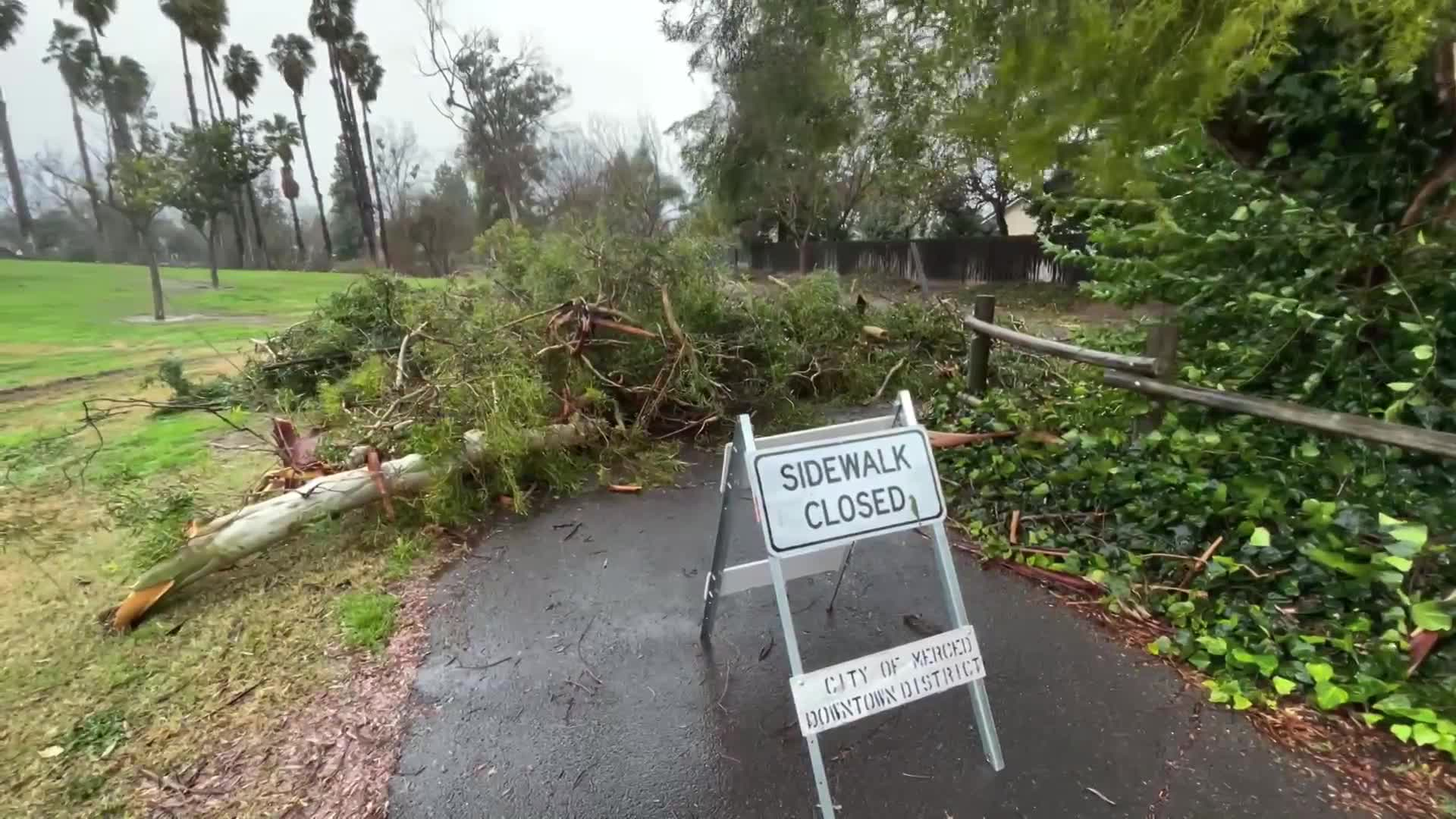 Powerful storm damages homes, blocks streets in Merced County