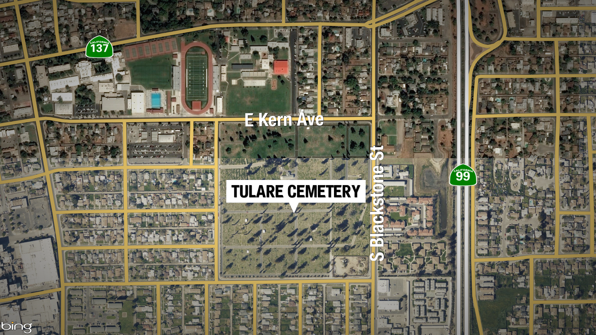 3-1 TULARE CEMETERY STABBING STILL MAP