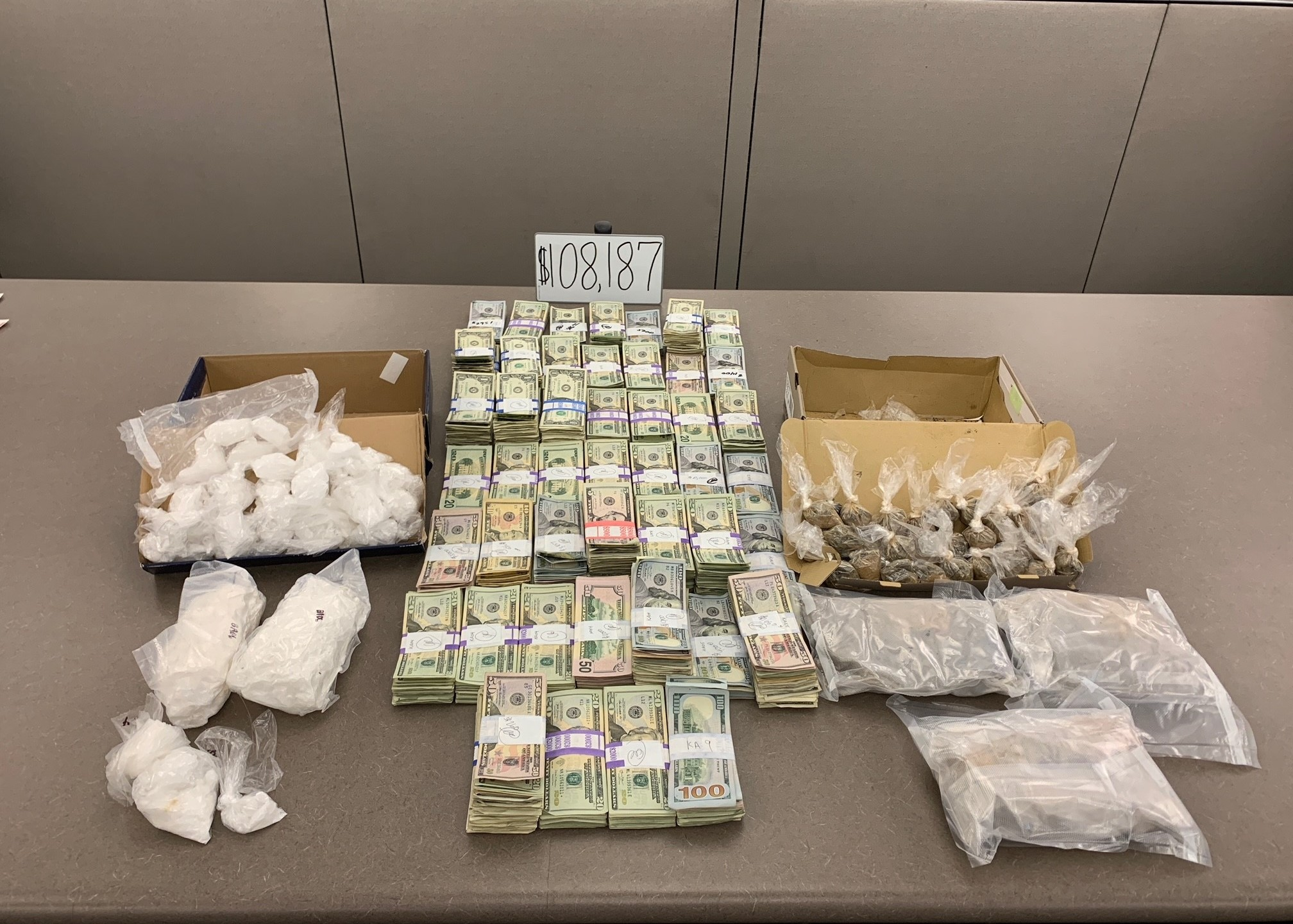 Drug dealers arrested after officers say they found heroin, methamphetamine, and $108K in cash