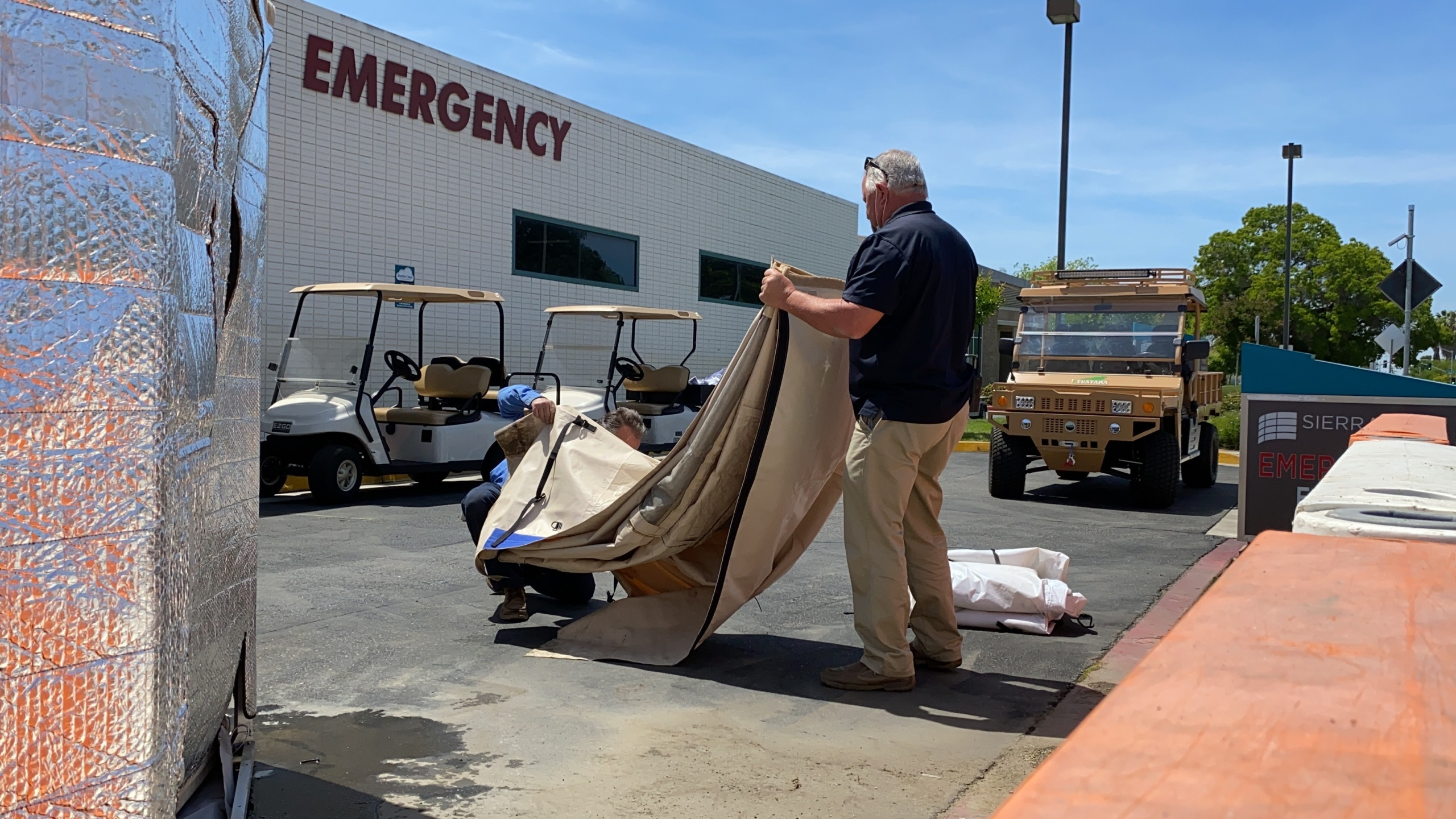 Emergency-use COVID-19 tents taken down at Porterville's Sierra View Medical Center