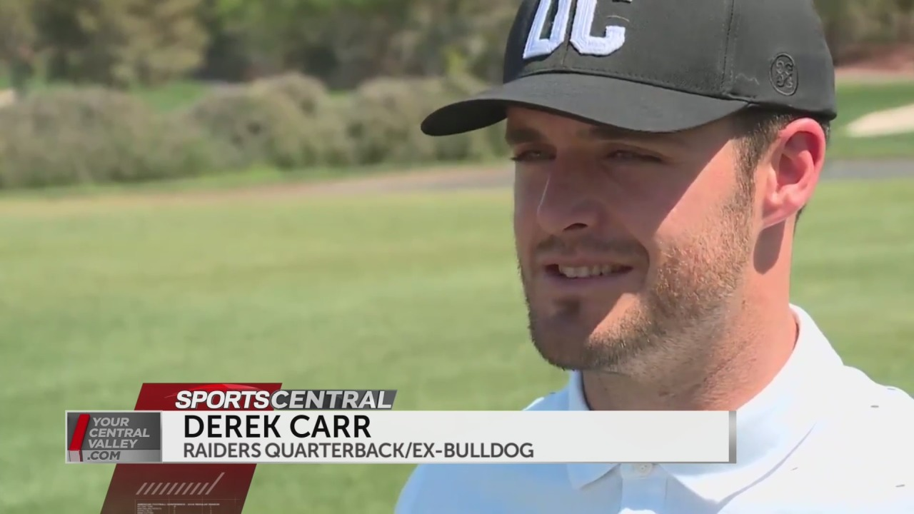 Raiders QB Derek Carr tees it up at Pro-Am for MGM Resorts Championship