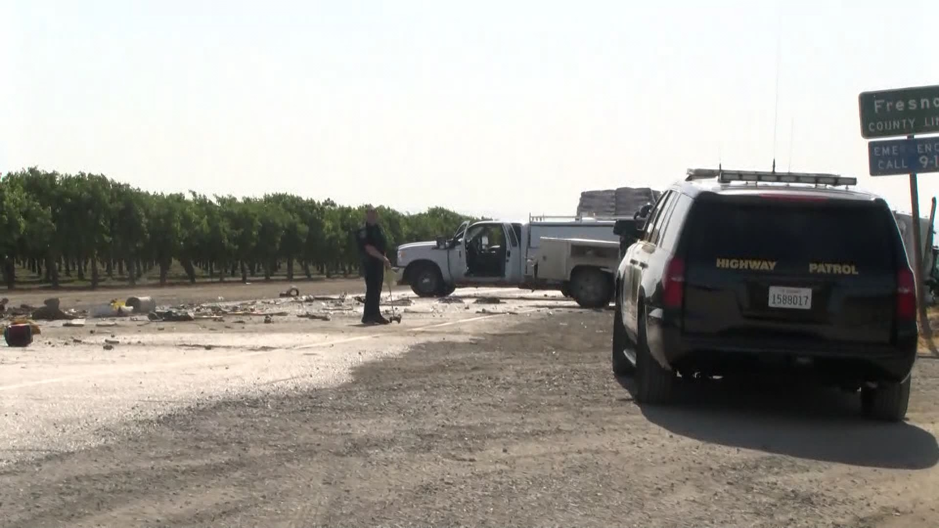 1 dead after man thrown from pickup onto highway outside Lemoore