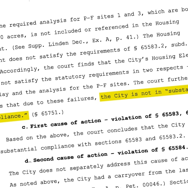 Court documents on ruling of city of Clovis affordable housing