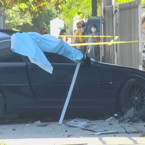 Woman killed when wanted gang member crashes into her while escaping, police say