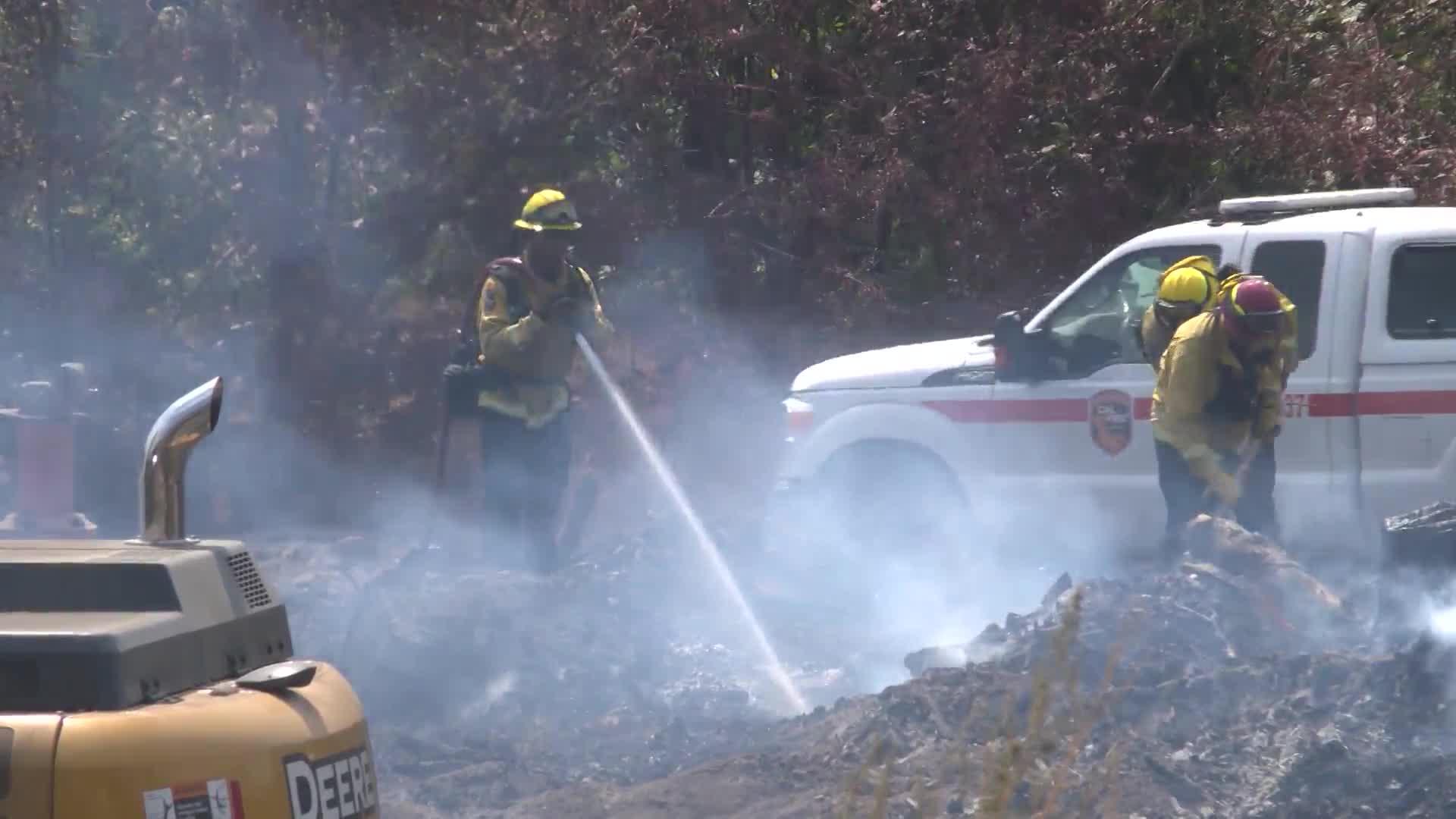 Fire at lumber mill in Auberry may take days to put out