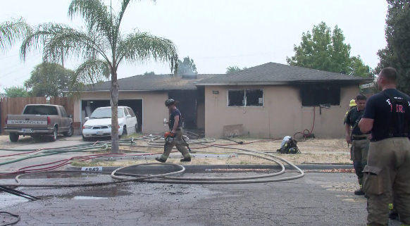 Home interior is a 'total loss' after structure fire in Fresno